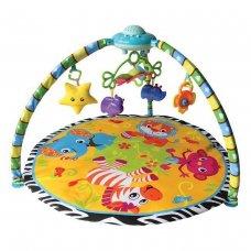 """Развивающий коврик """"Веселые зверята""""с проектором, муз. 4 колыб.,8 сказ, свет,игрушка"""