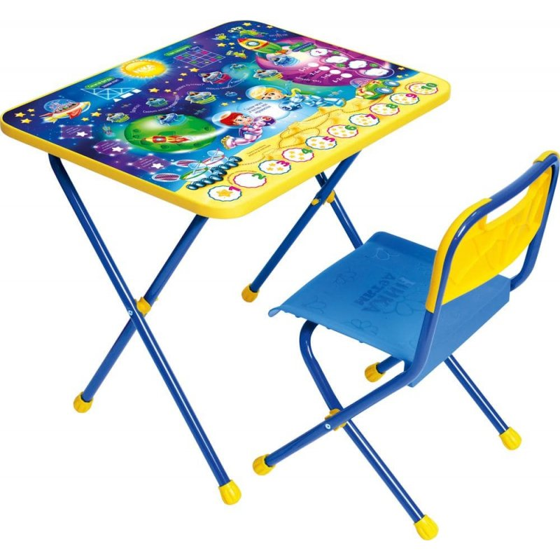 """Комплект детской складной мебели """"Познайка"""" математика в космосе"""