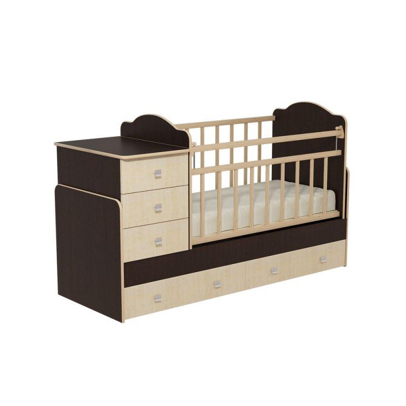 """Кровать детская с комодом и ящиками """"Колибри"""