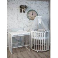 Детская кроватка- STELLA DORATA 7 в 1 (ПВХ накладка)