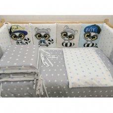 Комплект в кроватку Енотики 17 предметов