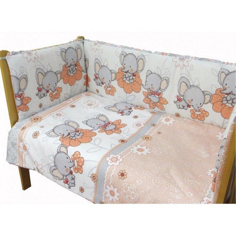 Комплект в кровать Слоники 6 предметов