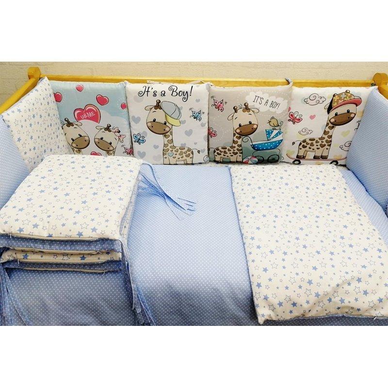 Комплект в кровать 17 предметов Панно голубой
